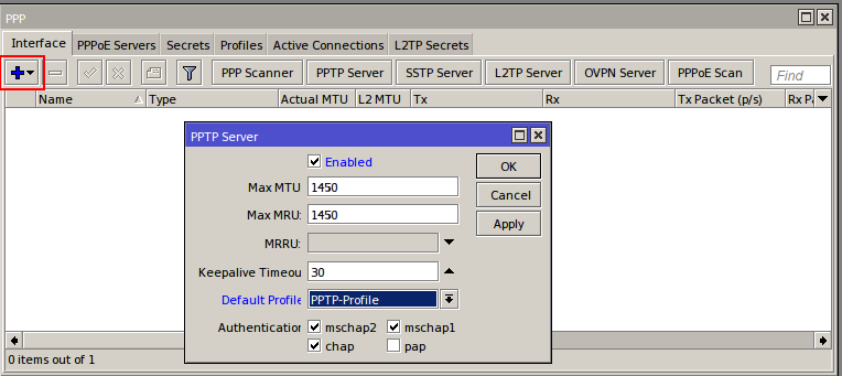 MikroTik CHR: How to set-up PPTP VPN Server
