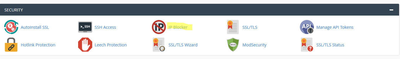 cPanel IP Blocking