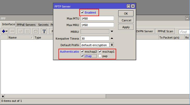 MikroTik CHR: Setup Secure VPN access between client and server