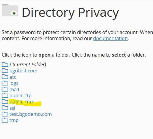 cPanel Privacy